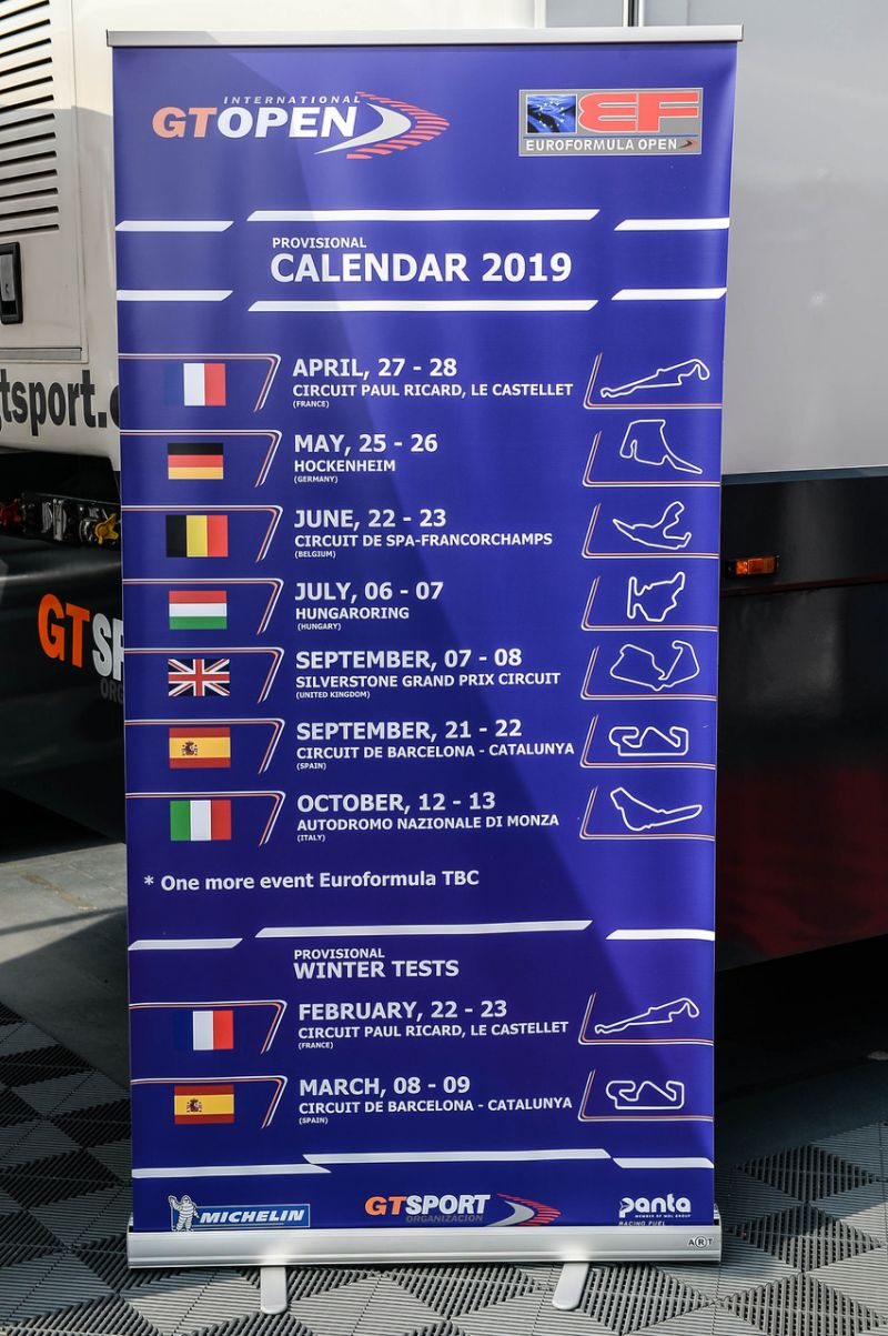 Spa Francorchamps Calendrier 2019.2019 Gt Open Calendar Announced Hockenheim Joins The Series